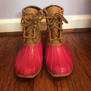 Sperry Topsider Pink Duckboots